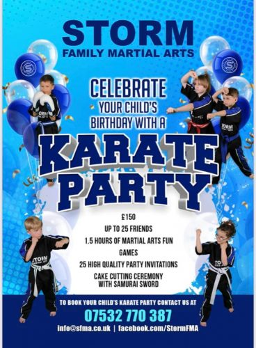 Karate Party Storm Family Martial Arts